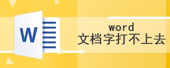 word文档字打不上去