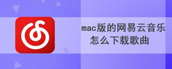mac版的网易云音乐怎么下载歌曲