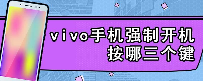 vivo手机强制开机按哪三个键