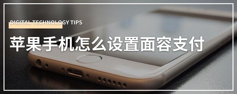 苹果手机怎么设置面容支付
