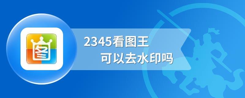 2345看图王可以去水印吗