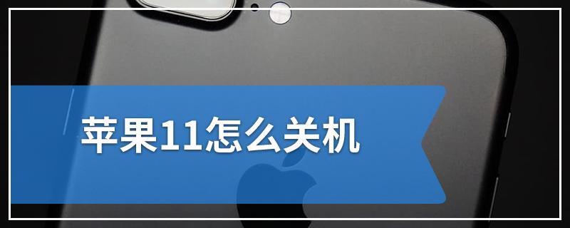 苹果11怎么关机