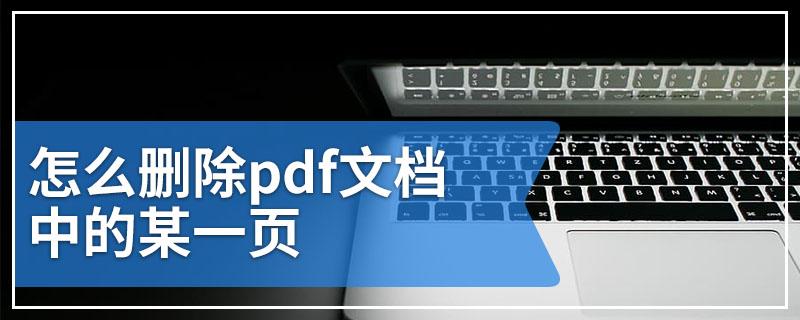 怎么删除pdf文档中的某一页