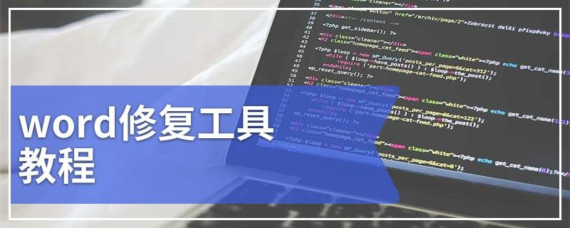 word修复工具教程