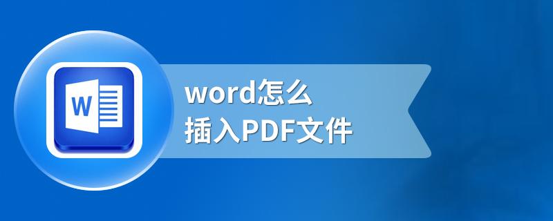 word怎么插入PDF文件