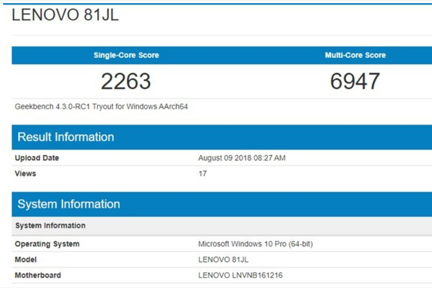 高通骁龙850处理器的Win10本曝光:频率接近3GHz