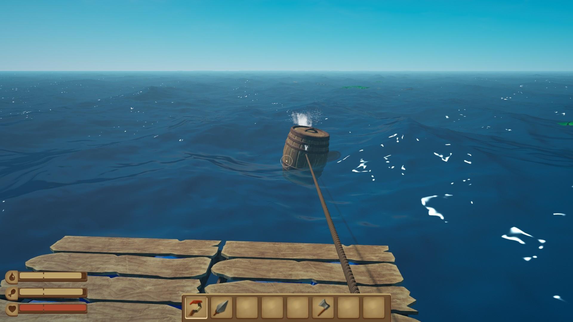 木筏求生的弓箭怎么用