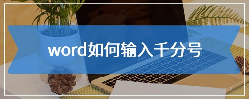 word如何输入千分号