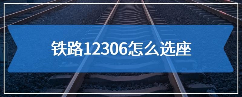 铁路12306怎么选座