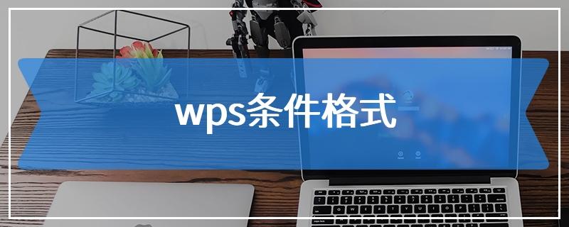 wps条件格式