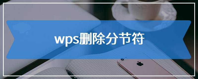 wps删除分节符