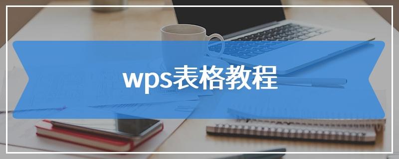 wps表格教程