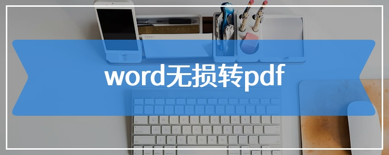 word无损转pdf
