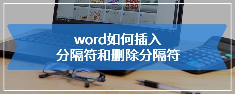 word如何插入分隔符和删除分隔符