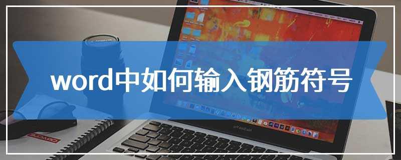 word中如何输入钢筋符号