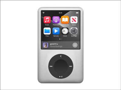 设计师发想iPodMax概念,经典怀旧外型搭配大萤幕和无损音乐支援