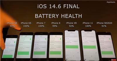 多款iPhone升级iOS14.6版本后电池续航力明显变差