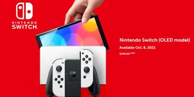 任天堂发表新款 Switch OLED 游戏主机将贩售