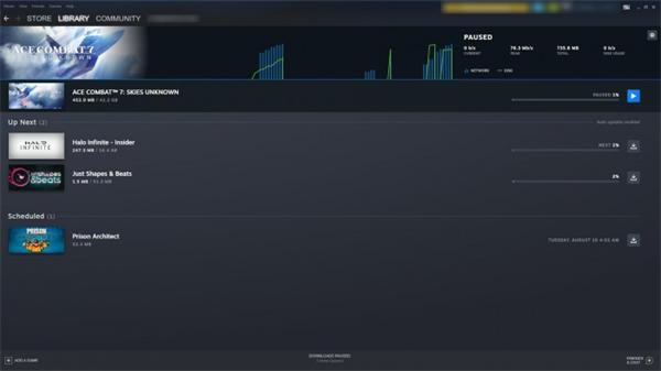 Steam新版游戏下载与存储管理页面现已开放公测体验