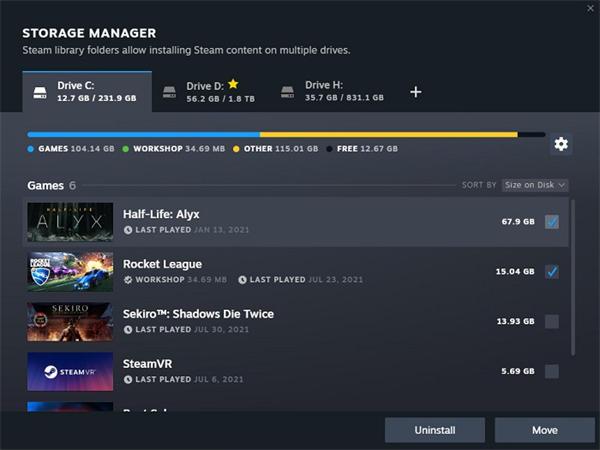 Steam新版游戏下载与存储管理页面现已开放公测体验(1)