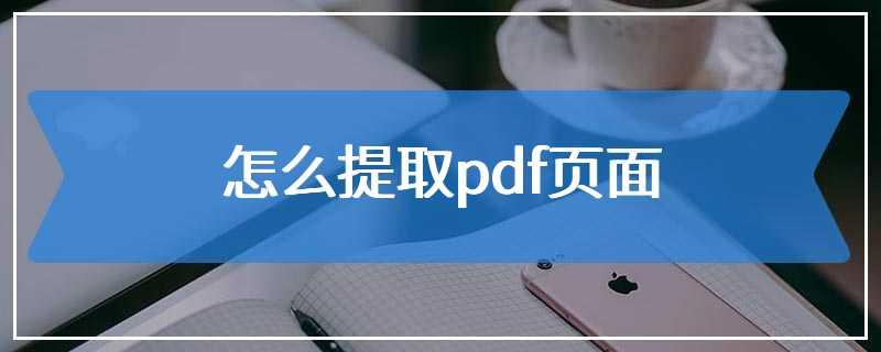 怎么提取pdf页面