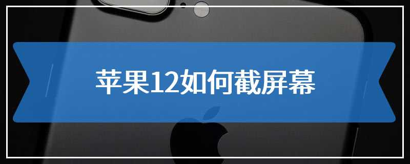 苹果12如何截屏幕