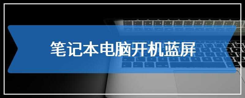 笔记本电脑开机蓝屏