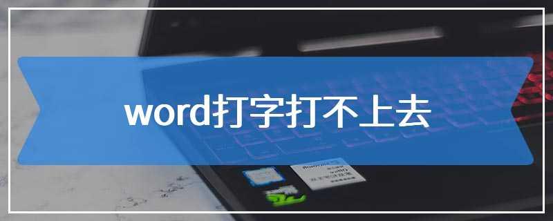 word打字打不上去