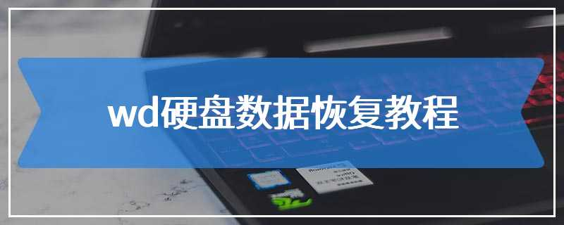 wd硬盘数据恢复教程