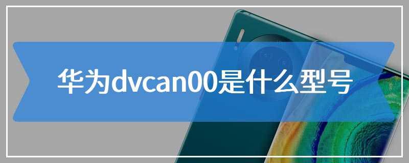 华为dvcan00是什么型号