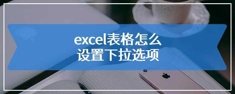 excel表格怎么设置下拉选项