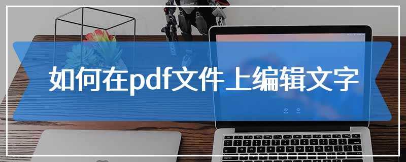 如何在pdf文件上编辑文字