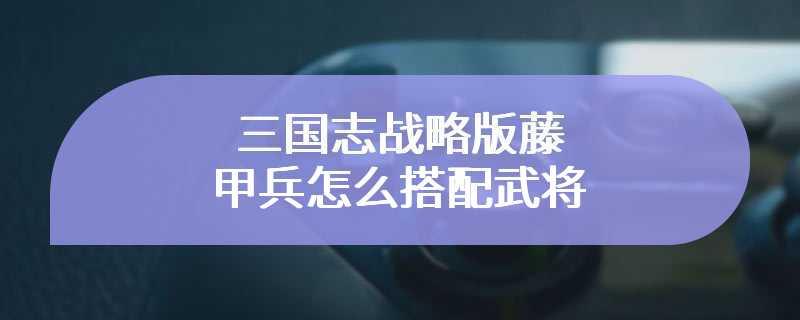 三国志战略版藤甲兵怎么搭配武将