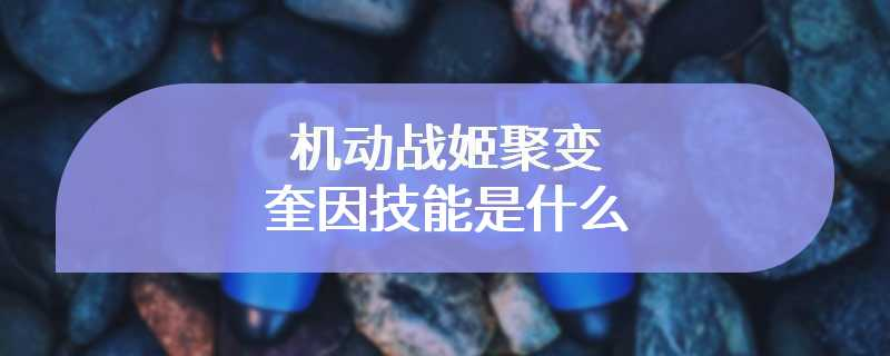 机动战姬聚变奎因技能是什么