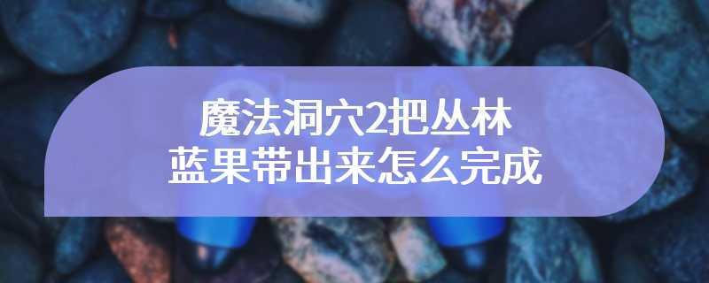 魔法洞穴2把丛林蓝果带出来怎么完成
