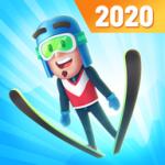 滑雪冒险飞越雪山